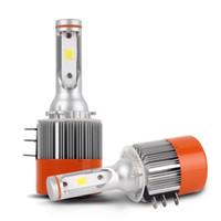 Wholesale Vw Led Headlights - NEW 2x H15 Car LED Headlight Bulb 72W 7600LM Wireless Driving COB Light Sourcing 6000K DRL Conversion Lamp For VW Audi BMW
