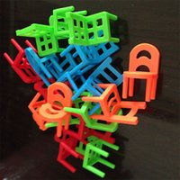 Wholesale plastic chairs children - Children Intelligence Stacked Chair Family Party Parent Child Game Learning Education Balance Stool Developmental Interaction Toy 4 5jm W