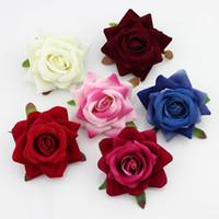 ingrosso corti artificiali-50 pezzi 6 cm seta fioritura rosa teste di fiori artificiali per la cerimonia nuziale / cappello / corona / corpetto decorazione fiori fai da te scrapbooking