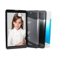 Wholesale tablet atom dual online - 7 inch intel Atom Quad Core Dual cameras Bluetooth G Phone Call Quad Core WiFi FM GB GB Anroid Tablet Pc