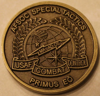 Free shipping 10pcs lot ,Combat Control Team   Pararescue Special Tactics Air Force Challenge Coin
