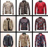 Heißer verkauf Frühling Herbst Neue Modemarke Blumen Druck Jacke Männer  England Stil Hoodies Mann Slim Fit Lässig Luxus Mantel Plus Größe M-XXXL 8885a144b5