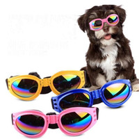 Wholesale dog sunglasses resale online - Foldable Pet Glasses Dog Sunglasses for Small Medium Large Dogs UV Eye Protection Glasses Doggles Grooming Accessories Color