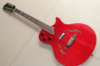 Wholesale taylort5 model electric guitar semi hollow mahogany body T5 in red