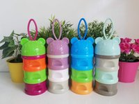 ingrosso latte latte-Alimentazione del bambino portatile Neonato contenitore per latte Bambini Infant formula latte in polvere Tre griglia Snack Candy vende box