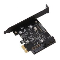 Wholesale pci expansion adapter - high quality PCI-E Express USB 3.0 PCI-E 19pin Connector and 15-pin SATA Power Expansion Card USB 3.0 Controller Adapter Add On Cards