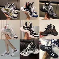 zapatos colores hombres amarillos al por mayor-2018 NUEVA mujer de lujo Archlight zapatilla de deporte de los hombres de cuero genuino entrenadores TPU suela zapatos casuales zapatos de corredor 7 colores