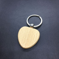 Wholesale blank wooden keychains resale online - Free DHL Style Personalized DIY Blank Wooden Keychain Wood Car Keychains Handbag Heart Square Key rings Best Gift Accessories G199F Y