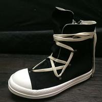 sapatos de cruzamento de animais venda por atacado-2018ss top quality Canvas geometria lace Up cinta cruz sapatos de luxo novo treinador casal botas