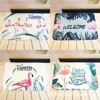 Wholesale wholesale carpet pad - Flannel Printing Mat Doormat Bedroom Living Room Kitchen Thickening Water Uptake Carpet Botany Green Pads Customizable 11 5hx2 gg