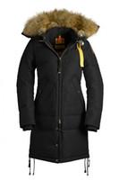 Wholesale long bear parka - 2018 Big Fur Top Copy Brand Women's Long Bear Down Parka Winter Jacket Arctic Parka Navy Black Green Red Outdoor Hoodies Free Shipping DHL
