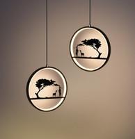entrada de arañas modernas al por mayor-Lámpara de araña creativa de ciervos Restaurante escandinavo Personalidad Moderna Entrada de pasillo simple Arte Lámpara de barra de una sola cabeza