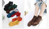 Wholesale carnival cuts - Women Ankle Socks Pure Color Cotton Blend Casual Sports Short Socks Slipper Lady Fashion Short Stockings Low Cut Socks Summer Spring Fall 26