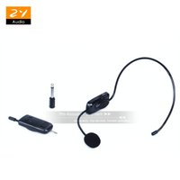Wholesale wireless headset microphone system uhf - UHF Wireless Headset Mic Wireless Microphone System 3.5mm Plug Receiver For Teacher Speech Conference Tour Guide Sales Promotion