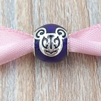 Wholesale Pandora Mouse - Authentic 925 Sterling Silver Beads Miky Mouse ''Magical Day Miky'' Charm Fits European Pandora Style Jewelry Bracelets & Necklace 750105588