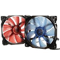 corregir la tarjeta de video al por mayor-120mm PWM 3Pin / 4pin CPU Cooler Radiador de ventilador 12V LED Light Heatsink Computer Ventilador de refrigeración de aire para Hyper Z600 / 212 / V10 / V8