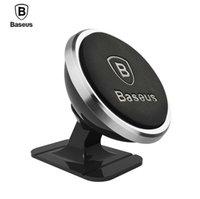 mobil araç montaj parçası toptan satış-Baseus evrensel araç telefonu tutucu 360 derece gps manyetik cep telefonu tutucu için iphone 8 x samsung hava firar dağı standı