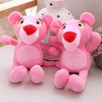 geschenkpuppe großhandel-1 stück 22 cm Schöne Kinder Geschenk Frech Pink Panther Stofftier Plüsch Puppe Spielzeug Weihnachtsgeschenke Geburtstagsgeschenke