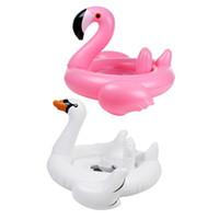 bagues flottantes flottantes achat en gros de-Anneau de natation gonflable Flamingo Swan Pool Air Matelas Flotteur Jouet D'eau Jouet pour Enfants Bébé Infantile Anneau De Bain Accessoires