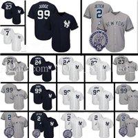 Wholesale green new york jersey - Men's 99 Aaron Judge 2 27 23 Don Mattingly 3 Babe Ruth 7 Mickey Mantle 42 Mariano Rivera 51 Bernie Williams Jersey New York Baseball Jerseys