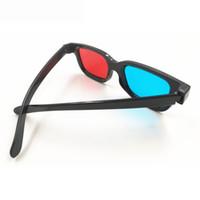 vídeo vermelho azul venda por atacado-Vermelho E Azul 3D Óculos Homens E Mulheres Diferença de Cor 3D Óculos De Vídeo Estéreo IPAD Três D Óculos Vermelho E Azul Formato Atacado