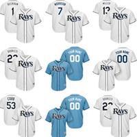 Wholesale David Beckham - Tampa 1 Beckham 7 MORRISON 13 MILLER 53 cobb Jersey 100% stitched Men's Baseball Jerseys Custom any namenumber