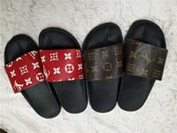 Wholesale mens slipper designs resale online - 2019 NEW Design slipper Gear bottoms mens striped sandals causal Non slip summer huaraches slippers flip flops slipper BEST QUALITY