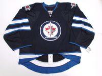 jets jerseys baratos al por mayor-Cheap Custom WINNIPEG JETS AUTHENTIC HOME EQUIPO EMITIDO EDGE JERSEY GOALIE CUT 60 Hombres cosidos Jerseys de hockey Personalizado