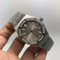 pilas de reloj de cuarzo al por mayor-33 mm relojes del reloj de lujo del reloj de pulsera mejor calidad Royal Oak 33mm señoras del diamante del bisel 67.651 relojes de cuarzo de las mujeres de la batería