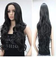 стиль здоровья оптовых-OUJF1025 новый стиль моды длинные черные/оранжевые вьющиеся здоровья волнистые парики волос парик