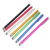 стильная ёмкостная ручка тонкая оптовых-Горячее микро-волокно 1шт 185 мм тонкая точка стилуса Touch Touch Microfiber стилус Touch Touch для ipad для iphone