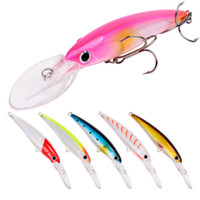 Wholesale 17cm hard lures online - Deep Sinking DOG WALKING Swimming Minnow Laser Fishing lure g cm D Lifelike Eyes Plastic Rolling Bait with BKB hooks