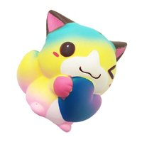 Wholesale valentines day toys - Squishy Kawaii Simulation Cat Design Slow Rising Fresh Pu Bread Squishies For Valentines Day Creative Gift Kids Toy New Arrive 13 5df W