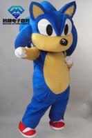 ingrosso avvolgere la pubblicità-2018 3 colori del costume della mascotte di Hedgehog della parata popolare Pubblicità del partito di Sonic Servizio personalizzato spedizione gratuita