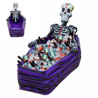 Wholesale inflatable outdoor christmas decorations - Skull Inflatable Cooler Skeleton Drink Ice Bucket Halloween Party Supply Christmas Decoration Toys Outdoor Tableware Halloween Bar #4705