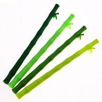 ingrosso gel di bambù-1 pezzo Lytwtw's Bamboo Kawaii Scuola Forniture ufficio cancelleria penna gel maniglie creativo carino regalo Chancery