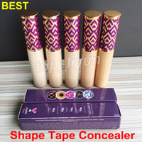 Wholesale waterproof liquid makeup for sale - Group buy Best shape tape contour concealer correcteur ml Makeup Face liquid foundation concealer colors Fair Medium Light Sand Light Light Medium