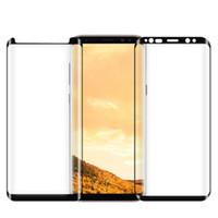 color tempered glass оптовых-Для Samsung S9 Note8 S8 Plus Galaxy Note 8 9 закаленное стекло полноэкранный цветной протектор 3D изогнутый край S7 S6