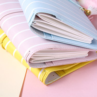 cadernos escola bonito venda por atacado-Dokibook Lovedoki 2017 freeshipping Caderno de notas de viagem kawaii diário Agenda bonito escola estacionária tarja elástico banda