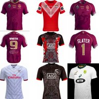 Wholesale usa rugby jerseys - NRL Tonga New Zealand National Rugby League Queensland 18 19 usa QLD Maroons Malou Rugby jersey 2019 QLD MAROONS STATE OF ORIGIN Rugby jerse