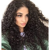 Wholesale remy human hair glueless for sale - Group buy LIN MAN Brazilian Remy Hair Lace Frontal Human Wigs Natural Color Curly Wigs Pre Plucked Natural Hairline Glueless Wigs