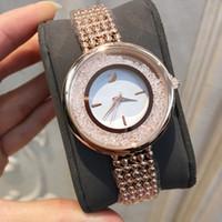 pulseira de moda japão venda por atacado-Moda Feminina Relógio Com Pulseira de Diamantes Cadeia Japão Movimento Casual Estilo de Aço vestido de mulher de Quartzo Casual Assista Relojes De Marca Mujer