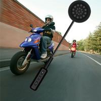 ingrosso auricolare del bluetooth del casco del motociclo-Auricolare per casco da moto Bluetooth 4.0 Altoparlanti stereo doppi Vivavoce Controllo delle chiamate musicali Mic Auricolare Nero