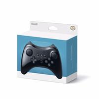 controlador analógico de joystick venda por atacado-Novo sem fio bluetooth gamepad para nintendo wii u pro game controller joystick wiiu console remoto clássico dual analógico joypad branco