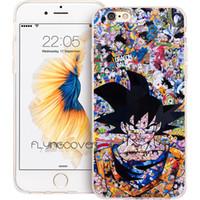 iphone 4s anime kılıfı toptan satış-Coque Comics Anime Goku Telefon Kılıfları iPhone 10X7 8 Artı 5 S 5 SE 6 6 S Artı 5C 4 S 4 iPod Touch 6 5 Şeffaf Yumuşak TPU Silikon Kapak.