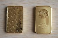 muestra gratis envío al por mayor-La orden de la muestra, envío gratis, Goldbarren 1 Unze / Gold Bar 1 onza Perth Mint Gold Bar cisne de oro negro barra no magnética