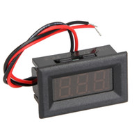 Wholesale mini digital voltage panel meter for sale - Group buy Mini Digital Voltmeter Red Blue Green LED Display DC V Voltage Tester Panel Meter Voltmeter with Two Wires Electrical Tool
