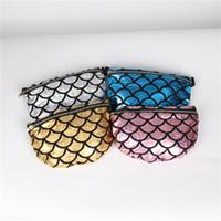 bolsos de colores populares al por mayor-Maam Dinner Handbag Nuevo Patrón Cremallera Bolsa de Hombro Multifunción Sirena Escala Personalizada 4 Colores Bolsa de Almacenamiento Popular 14jb V