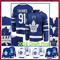 Wholesale john 16 - 91 John Tavares Jersey Toronto Maple Leafs 16 Mitch Marner 34 Auston Matthews Hockey Jerseys 2018 2019 Men man WOMEN Kids