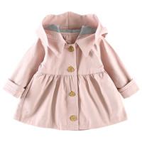 ropa de abrigo mágico al por mayor-Moda Infant Toddler Outwears Magic Hat Girls Trench Coat Primavera Ropa para niños Chaquetas para niños Ropa para bebés niñas